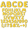 inflatable alphabet letters numbers and signs vector image vector image
