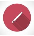 ink pen icon vector image vector image