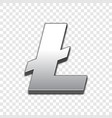 litecoin trendy 3d style icon vector image vector image