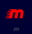 m letter winds movement dynamic logo velocity vector image vector image