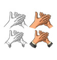 man clapping hands applause sign vintage vector image