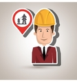 man with tower energy isolated icon design vector image vector image