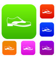men shoe with lace set collection vector image vector image