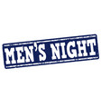 mens night stamp vector image vector image