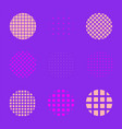minimal abstract design element set vector image vector image