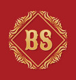 monogram bs letters - concept logo template design vector image vector image