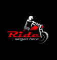 motorcycle logo template vector image