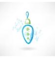 Nice decoration on Christmas tree grunge icon vector image vector image