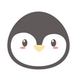 Penguin face polar animal bird icon