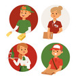 people part-time job professions set vector image vector image