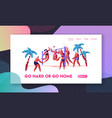 people playing beach volleyball on seaside sports vector image vector image