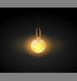 realistic light bulb electric retro lamp vector image vector image