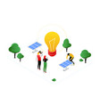 renewable energy - modern colorful isometric vector image vector image