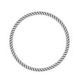 round marine rope vector image vector image