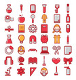science icons set vector image