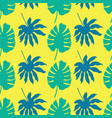 seamless pattern background with green and vector image vector image