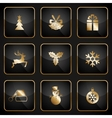 set black and gold web buttons for christmas vector image