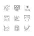 set line icons financial analytics vector image vector image