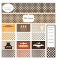 Set of business cards and header website for vector image vector image
