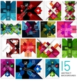 Set of geometrical cross shape backgrounds vector image