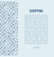 shopping concept with thin line icons vector image vector image
