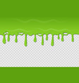 slime seamless pattern dripping green radioactive vector image vector image