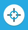 sniper target icon colored symbol premium quality vector image vector image