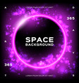 space background futuristic planet trendy vector image vector image