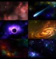 starry outer galaxy cosmic space vector image vector image