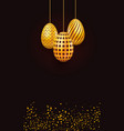 template easter background with realistic gold vector image vector image