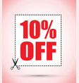 ten percent off voucher vector image