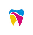 tooth dental logo template vector image vector image