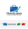 travel bag logo design vector image vector image