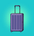 travelling suitcase on wheels vector image