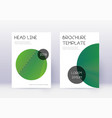 trendy cover design template set green abstract l vector image