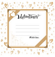 valentine gift card banner template with hand vector image