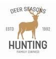 vintage hunting emblems vector image