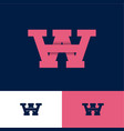 w and a logo monogram letters network web icon vector image vector image