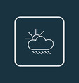 weather icon line symbol premium quality isolated vector image