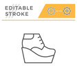 wedge boot editable stroke line outline icon vector image vector image