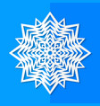 white paper snowflake vector image vector image