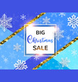 abstract background for christmas sale vector image