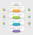 business hexagon infographics template vector image