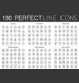 180 outline mini concept icons symbols of school vector image vector image