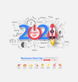 2021 new year startup ideas concept design vector image