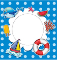 A blue dotted stationery vector image vector image