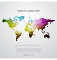 Abstract background with world map vector image vector image