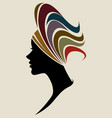 african women silhouette fashion models vector image vector image