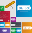 alarm clock icon sign buttons Modern interface vector image vector image