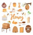 apiary beekeeping honey jar vector image